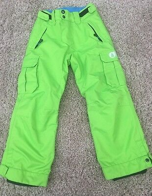 """""""picture Organic Clothing"""" Bright Green Salopettes/snow Board, Age 10"""