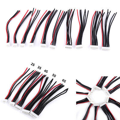 10Pcs JST-XH Connector 2-6S Imax B6 Balance Charger Cable Wire Adapter Plug SP