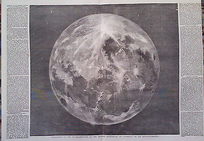 1854 Print Photograph Of The Moon By Mr Hartnup