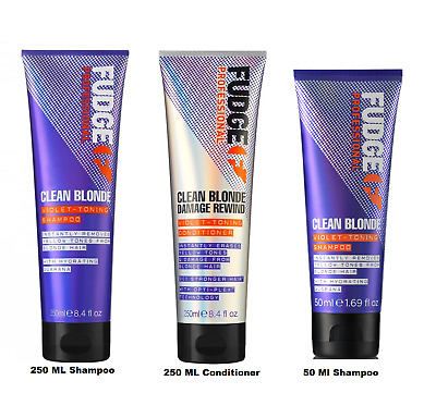 Fudge Clean Blonde Violet Silver Toning Purple Shampoo - 50 ,250 OR 300ML