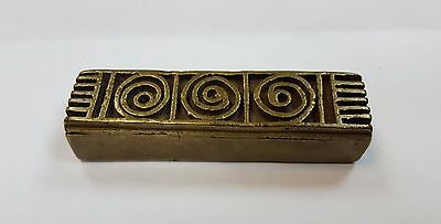 African Tribal Rare Ashanti Akan Gold Dust Box Weight
