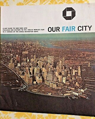 Our Fair City Map Guide To New York City For World's Fair 1964-1965