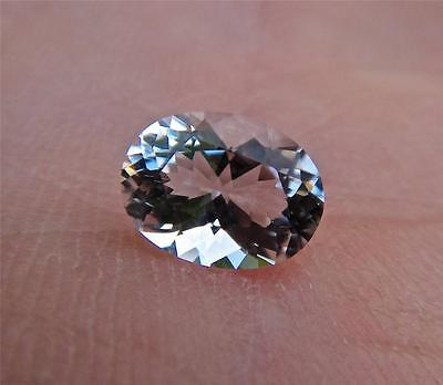 Genuine .75 Carat Faceted NY Herkimer Diamond - 7x5mm Oval Cut - AAA Radiant