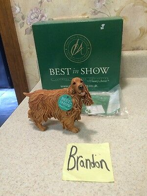 Best In Show Cocker Spaniel Golden dog Figurine MINT In Box w/ tags