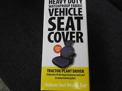 Grammer Tractor-Plant Seat Cover (Black)