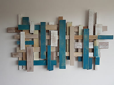 Large Abstract Wooden Wall Sculpture