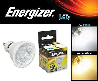 4 / 10 x Energizer Dimmable LED 5W GU10 Lamps Spot Light Day Warm White Bulbs