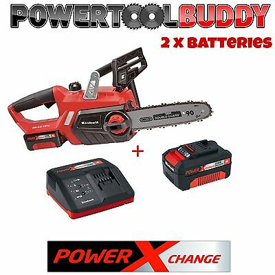 Einhell Heavy Duty 18volt Li-ion Cordless Chainsaw + 2 Batteries & Charger B10