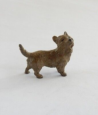 Austrian Hand Painted Bronze in shape of Little Dog Signed