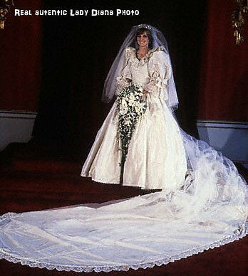 The Princess Diana Porcelain Bride Doll