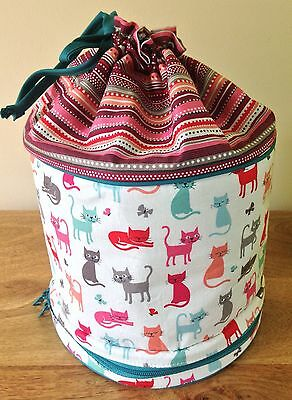 DRAWSTRING STORAGE BAG KNITTING, CRAFTS,TOILETRIES Cats or Sheep designs QUALITY