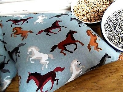 Handmade Micro Heat/Chill Pad/Bag Wheat/Linseed/Lavender - Crazy Horses