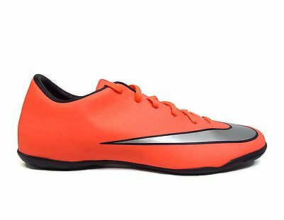 1cad88977 Nike Men's MERCURIAL VICTORY V IC Indoor Soccer Shoes Mango/Silver  651635-803 a