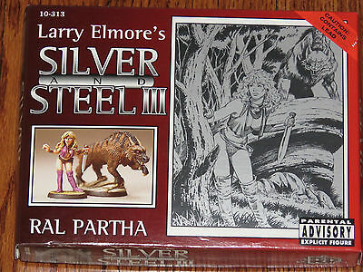 Ral Partha D&D Larry Elmore's Silver and Steel III 10 Figures Missing 1 Sword