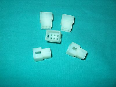Lot Of 5  Molex  6 Pos. Rectangular Housing Plug  03-06-2061  New