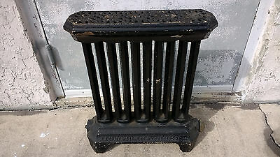 Cast Iron Radiator and Cover from the 1800s Dated N.Y.  Steampunk Industrial