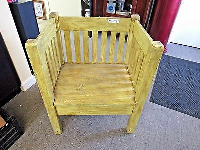 Vintage Mission Oak Cube Chair 1920's Read!!!!  (9727-Showroom-Mom)