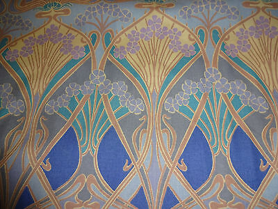 Vtg New Liberty Of London Ianthe Art Nouveau Blue Fabric For
