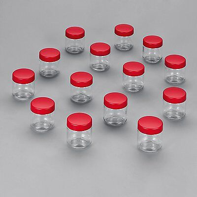 Severin Replacement 8 Jars with Lids for Yoghurt Maker, Red