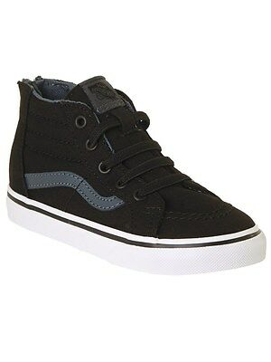 Vans Black-Dark Slate SK8-Hi Toddlers Shoe