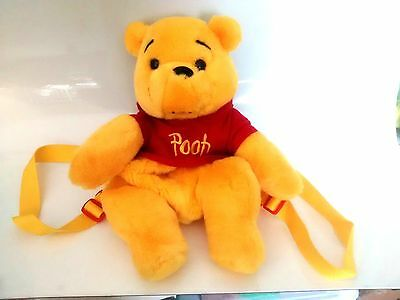 Plush Stuffed Animals Winnie the Pooh Back Pack Disney Toy Children