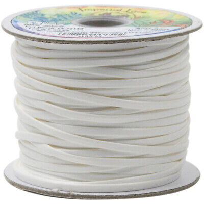 "Tandy Leather Imperial Lace .125""X50yd Spool-White"