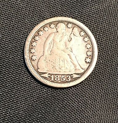 1853 10C Arrows Liberty Seated Dime