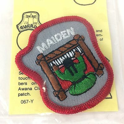 Awana Sparks Pioneers Guards PALS Maiden Rank Emblem Patch Vintage NOS