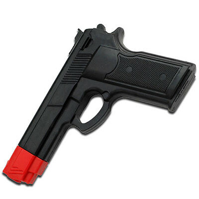 """Black and Red Rubber Training Gun 7"""" Overall Police Dummy Non Firing Real Feel"""