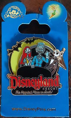 Disney Pin DLR 2011 Disneyland Jack and Sally on The Haunted Mansion