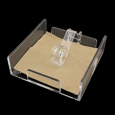 Clear Acrylic Cocktail Napkin Holder Roller Style Kitchen Tabletop Dispenser