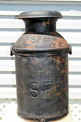 Vintage Muller Dairies Inc. NYC 10 Gallon Milk Can SF co.
