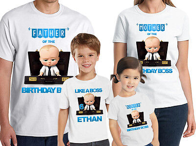 Boss Baby Birthday Shirt Custom Name and Age Personalized Boss Baby Shirt