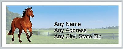 30 Personalized Address Labels Country Horse Buy 3 get 1 free (ac742)