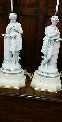 REDUCED PRICE   Pair of 19th c.French Porcelain Lamps