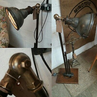 French Vintage industrial authentic Floor Standing Lamp. Rewired and pat tested.