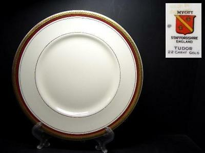 Myott Tudor Gold Encrusted Bread Plate - Hw720 Burgundy Red [2]