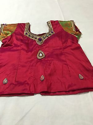 Girls Stitched Pattu Lehenga **Pre-Owned**