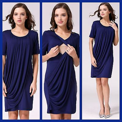 Sale!! Bnwt Navy Maternity Breastfeeding Nursing Dress Size S M L Xl 8 10 12 14