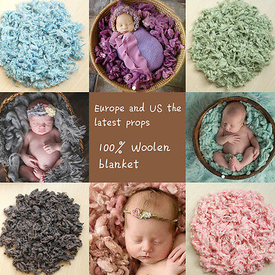 Newborn Baby Toddler Soft Wool Basket Stuffer Backdrop Photo Photography Prop
