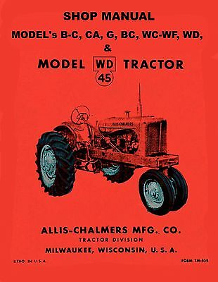 ALLIS CHALMERS WD 45 Tractor Service/Shop Manual WD45