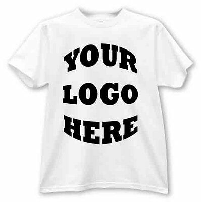 12 Custom T Shirts with your full color logo (front or back)
