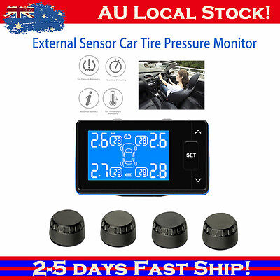 TPMS Wireless Car Tyre Pressure Monitor For Car SUV WAGON W/ 4 External Sensors