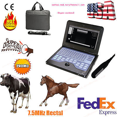 VET Veterinary Ultrasound Scanner Machine cow/horse/Animal,rectal transducer.CE