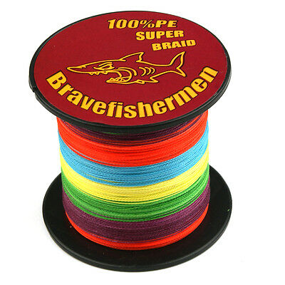 4/8 Strand Spectra 100%PE Dyneema Braid Fishing Line Colour 100M 300M 500M 1000M