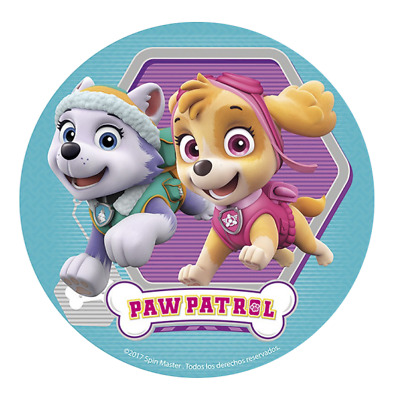 Paw Patrol Edible Birthday Party Cake Decoration Topper Round Image
