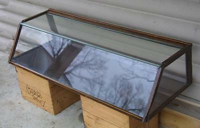 Antique Country Store Slant Front Showcase Display Case