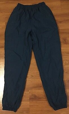 Vintage Reebok Womens Zip Cuff Teal Warm Up Track Pants ~ Size Medium