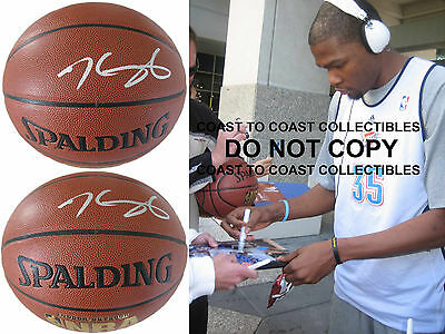 Kevin Durant,golden State Warriors,thunder,signed,autographed,basketball,proof