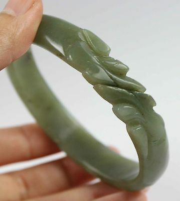 Chinese Jade carved dragon jade bracelet /Bangle 231